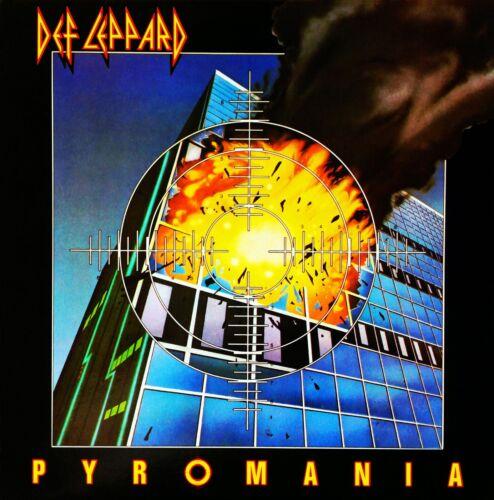 Def Leppard Pyromania album Art Stretched Canvas Wall Art Poster Print Music