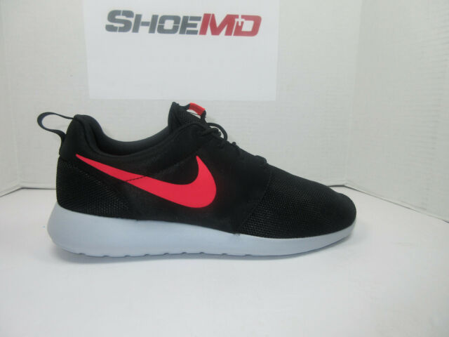 7bf483c95f8cf Nike Roshe One Mens 511881-039 Black Solar Red Platinum Running ...