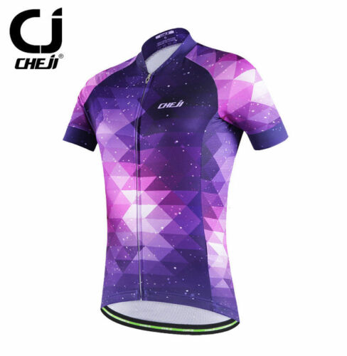 CHEJI Purple Women/'s Cycle Jersey Tops Ladies Cycling Bicycle Jersey Shirts