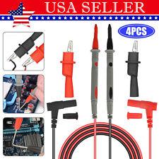 4 In 1 1000v 20a Probe Multimeter Test Lead Kit Alligator Fluke Clip Clamp Cable