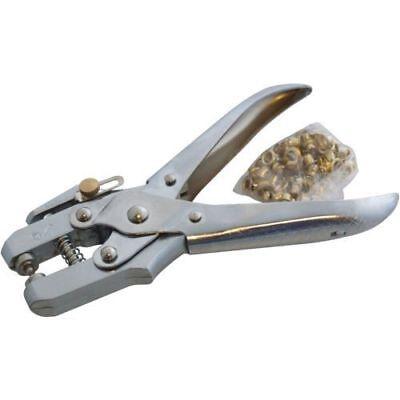 Heavy Duty Eyelet Pliers Chrome Steel Tarpaulin Fastener 100 Eyelet Amtech
