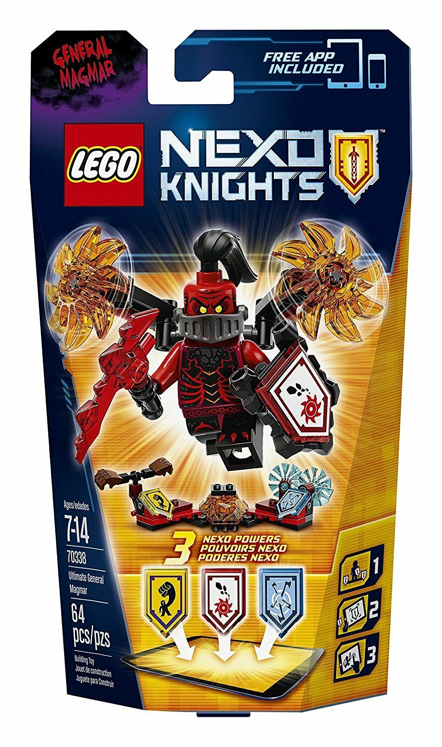 LEGO Nexo Knights 70338 Ultimate General Magmar Building Kit (64 (64 (64 Piece) 41d19e