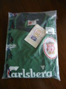 """LIVERPOOL Original 1997 Reebok Green GOALKEEPER Shirt 34-36"""" MINT BAG TAGS Rare"""