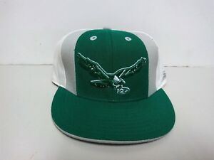 VINTAGE-REEBOK-PHILADELPHIA-EAGLES-GREEN-WHITE-GREY-FITTED-CONDITIONAL-SZ-7-8