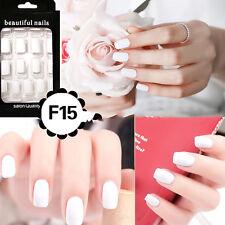 24Pcs French Acrylic False Fake Nail Art Fingernail Full Tips Lovely
