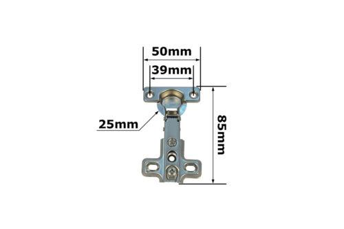 10x charnière de 26 mm butée de pièce pot bande coin coupe charnières D/'conti