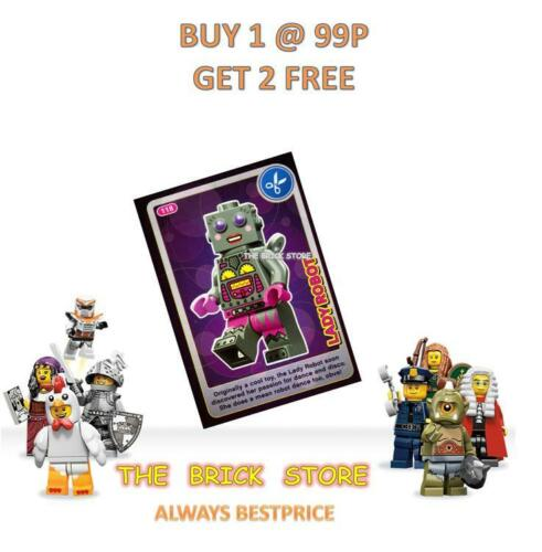 CREATE THE WORLD TRADING CARD LADY ROBOT NEW LEGO #118 GIFT BESTPRICE