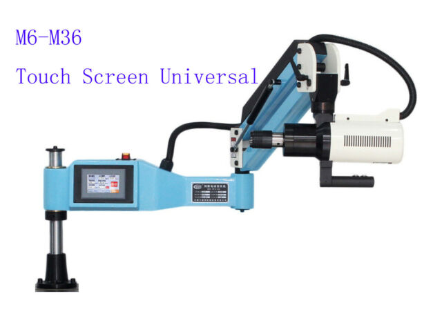 """220V M6-M36 Universal Electric Tapping Machine Flexible Arm 4.3"""" LCD Touch Scree"""