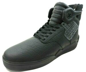 Supra-SKYTOP-IV-S99002-3-Mens-Shoes-Skate-Sneakers-Black-Leather-High-Top