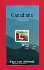 1989 CARNET TIMBRES CANADA BOOKLET  STAMPS #  1191 **  BK110  QUICK STICKS FLAG
