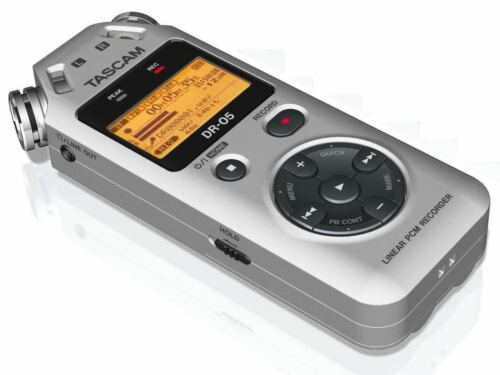 Tascam DR-05 Portable Handheld Digital Audio Recorder Silver