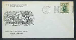 Clinton-Stamp-Club-Connecticut-Philatelic-Society-4c-Illustrated-Letter-I-1569