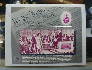BEP-souvenir-card-B-110-Sescal-1987-block-1938-3c-Constitution-Sesquicent-stamp