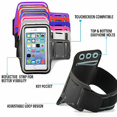Schneidig Quality Gym Running Sports Workout Armband Exercise Phone Case Pouch Cover