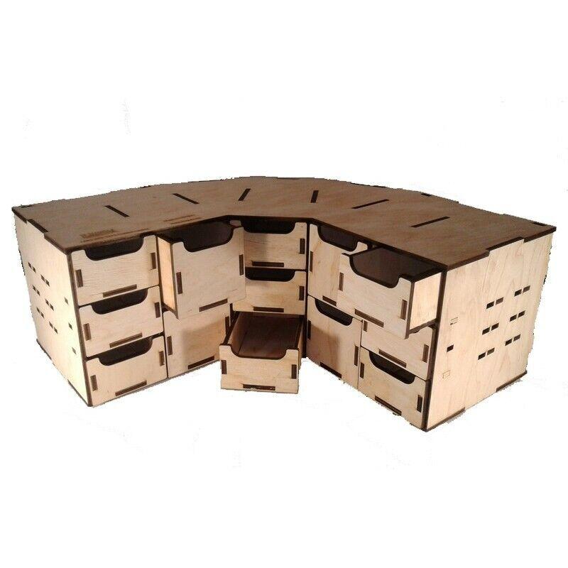 LMG WO-1213 scatola Corner Modulo 380x380x150 mm, Laser modello Graving, ripiano di stoccaggio