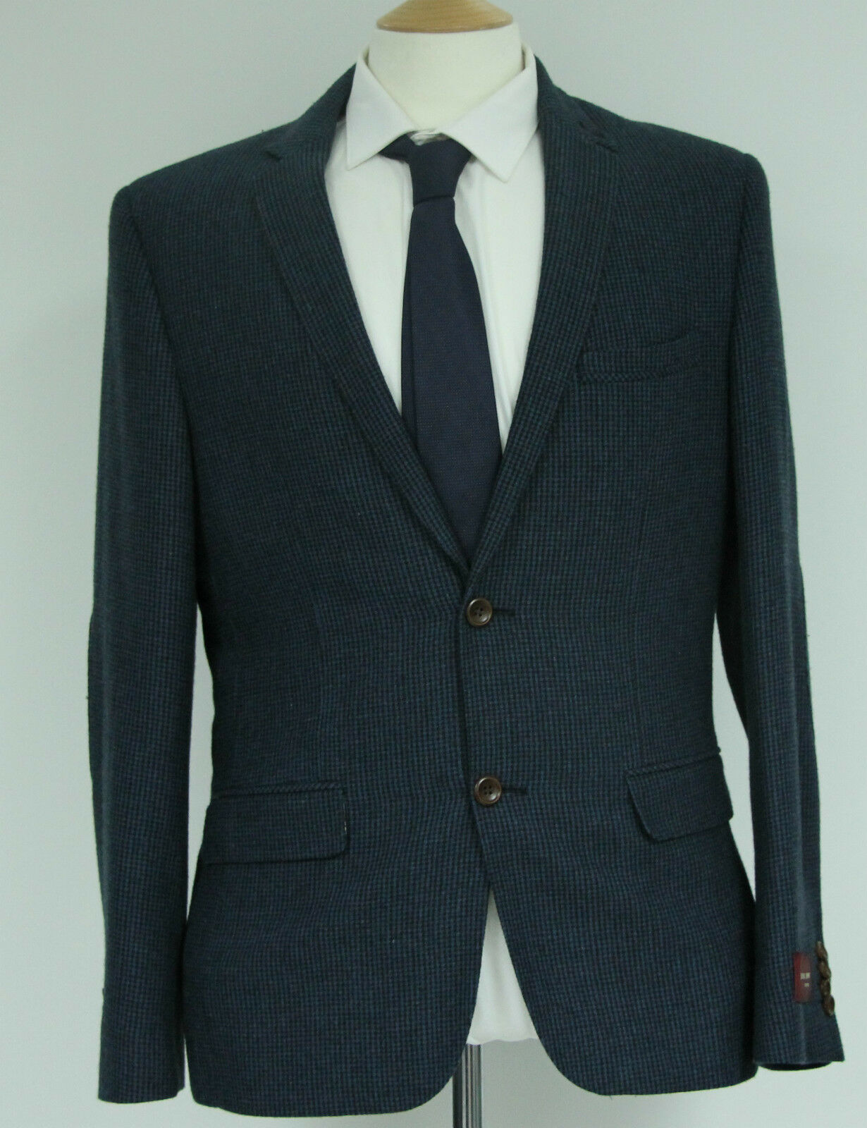 Men's Harry Brown Heritage Dog tooth Navy blazer... sample 172