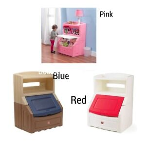 Details About Step2 Lift And Hide Bookcase Storage Chest Pink Blue Red