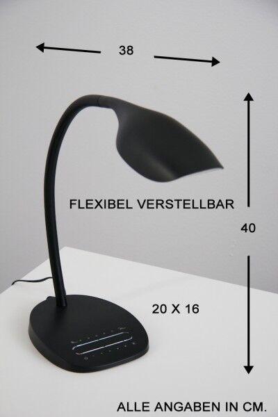 LED Tischleuchte Leseleuchte Leselampe Tischlampe Schreibtischlampe Lampe NEU