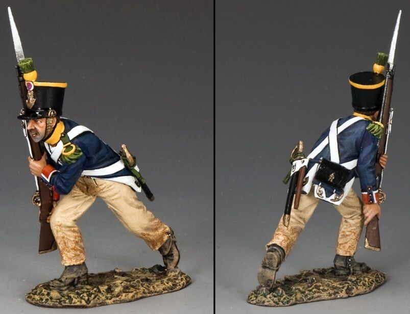 KING & COUNTRY AGE OF NAPOLEON NA281 FRENCH VOLTIGEUR ADVANCING RIFLE UP MIB