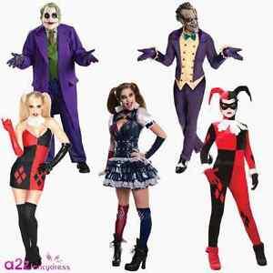 Image is loading Deluxe-Joker-Harley-Quinn-Batman-Halloween-Adult-Mens- ceb21e029