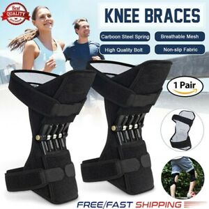 1Pair-Joint-Support-Brace-Knee-Pads-Booster-Lift-Squat-Sports-Power-Spring-Force