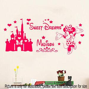 Disney Wall Stickers Minnie Mouse Bedroom Nursery Art Mural Home Decal UK Seller