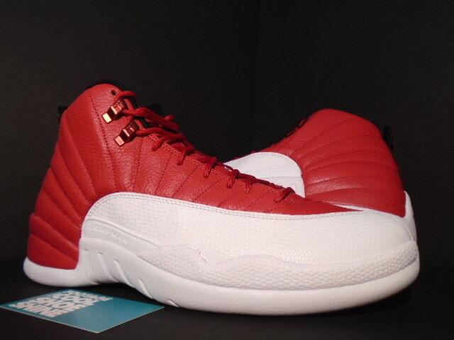 Nike Air Jordan XII 12 Retro GYM RED WHITE BLACK BRED ALTERNATE 130690-600 10.5