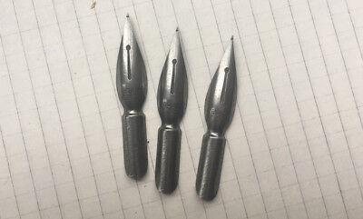Grey ball-pointed pen #532 Set of 3 vintage dip nibs NOS D.Leonardt /& Co