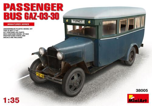 KIT MINIART 1//35 n° 38005 AUTOBUS SOVIETIQUE CIVIL GAZ-03-30 Mod 1938