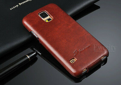 Luxury Vertical Flip Leather Skin Back Front Case Cover For Samsung Galaxy S5 SV