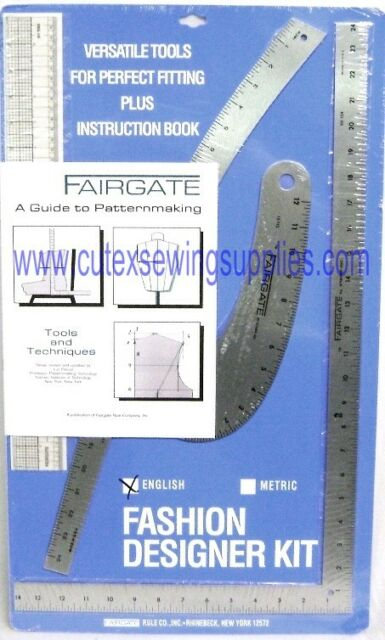 Fairgate 15 102 Fashion Designer S Kit Essential Pattern Making Rulers For Sale Online Ebay