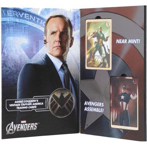 MARVEL AVENGERS Agent Coulson`s Captain Cards America Trading Cards Captain EFX COLLETCIBLES 89f0df