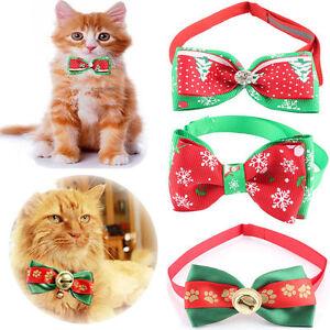 New-Dog-Cat-Puppy-Christmas-Xmas-Adjustable-Bow-Tie-Necktie-Collar-Pet-Accessory