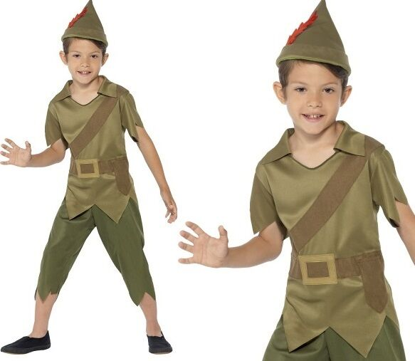 Childrens Boys Robin Hood Fancy Dress Costume Kids Book Day Outfit by Smiffys