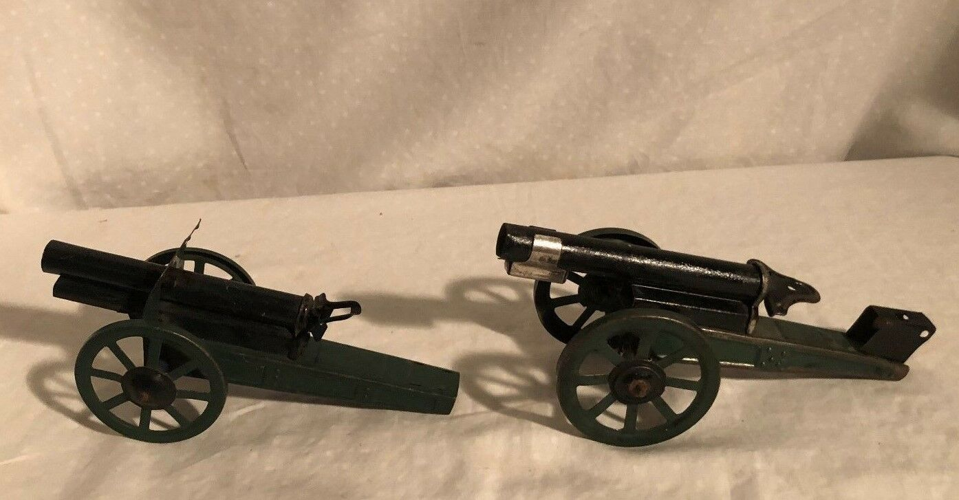 Hausser Lineol Arnold Tin Toy Cannons Artillery Germany