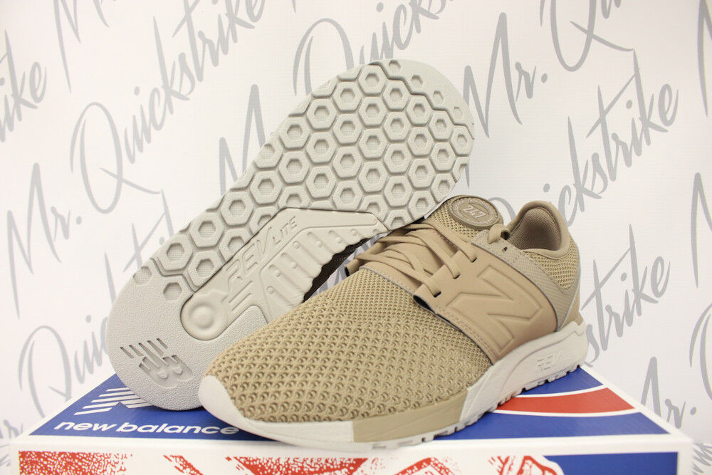 NEW BALANCE 247 KNIT SZ 9.5 WINTER KNIT TAUPE KHAKI OFF WHITE MRL247KT