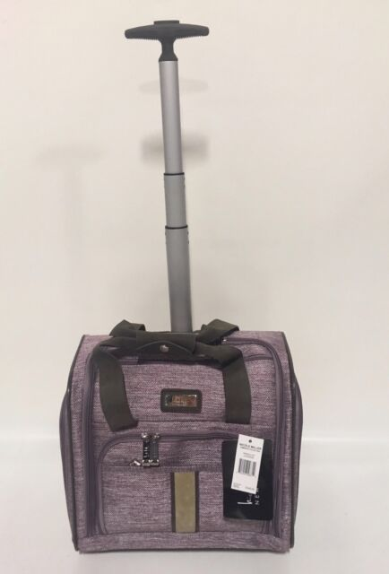 b8d3e5555ef5 NEW NICOLE MILLER CAMERON LAVENDER UNDER SEAT BAG WHEELED LUGGAGE CARRY ON   240