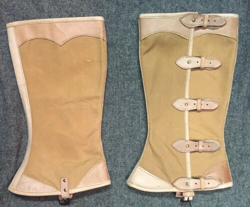 Leather and Canvas Officer/'s or Gentlemans/' Private Purchase Leggings Size 6