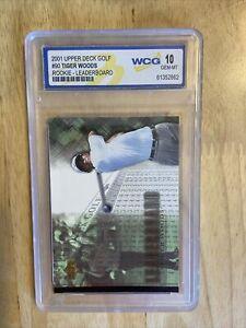 2001 Upper Deck Tiger Woods Rookie Leaderboard #90 Graded 10 Gem Mint