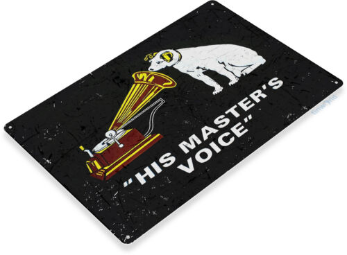 TIN SIGN His Master/'s Voice Wall Art Metal Décor Theater Music Bar Store A727