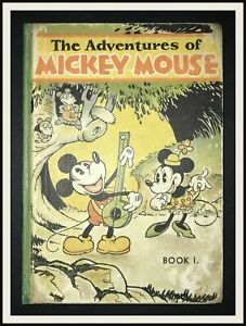 THE-ADVENTURES-OF-MICKEY-MOUSE-Book-1-David-McKay-1931-DISNEYANA-IT