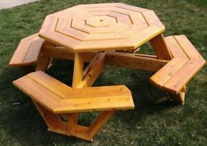 Handmade Local Cedar Octagon Picnic Picnic Tables Ontario Preview
