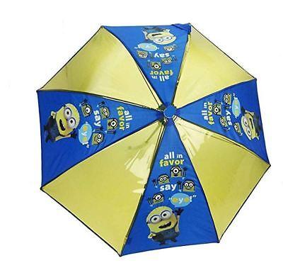 NEW Minions Umbrella Children's Despicable Me Minion Brolly Kids Waterproof Dome