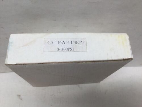 "PIC Precision Instruments Pressure Gauge 4.5"" P-A X 1//4"" NPT 0-300 PSI"