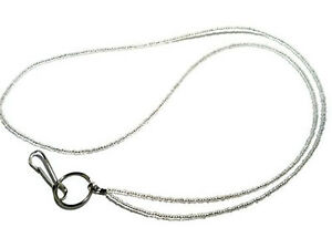 Silver-Beaded-Id-Lanyard-Silver-Id-Badge-Holder-Silver-Id-Lanyard-Id-Necklace
