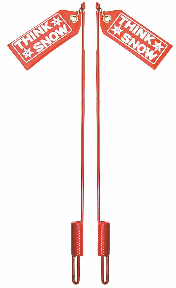 """2 24/"""" SNOW PLOW BLADE MARKER GUIDES w// Flags for Western 59700 410007 SNP7900"""