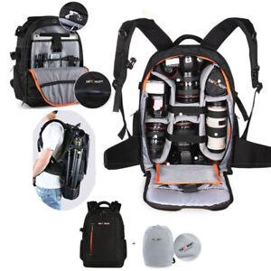 K-amp-F-Concept-DSLR-SLR-Camera-Backpack-Bag-Case-Waterproof-Shockproof-w-Rain-Cover