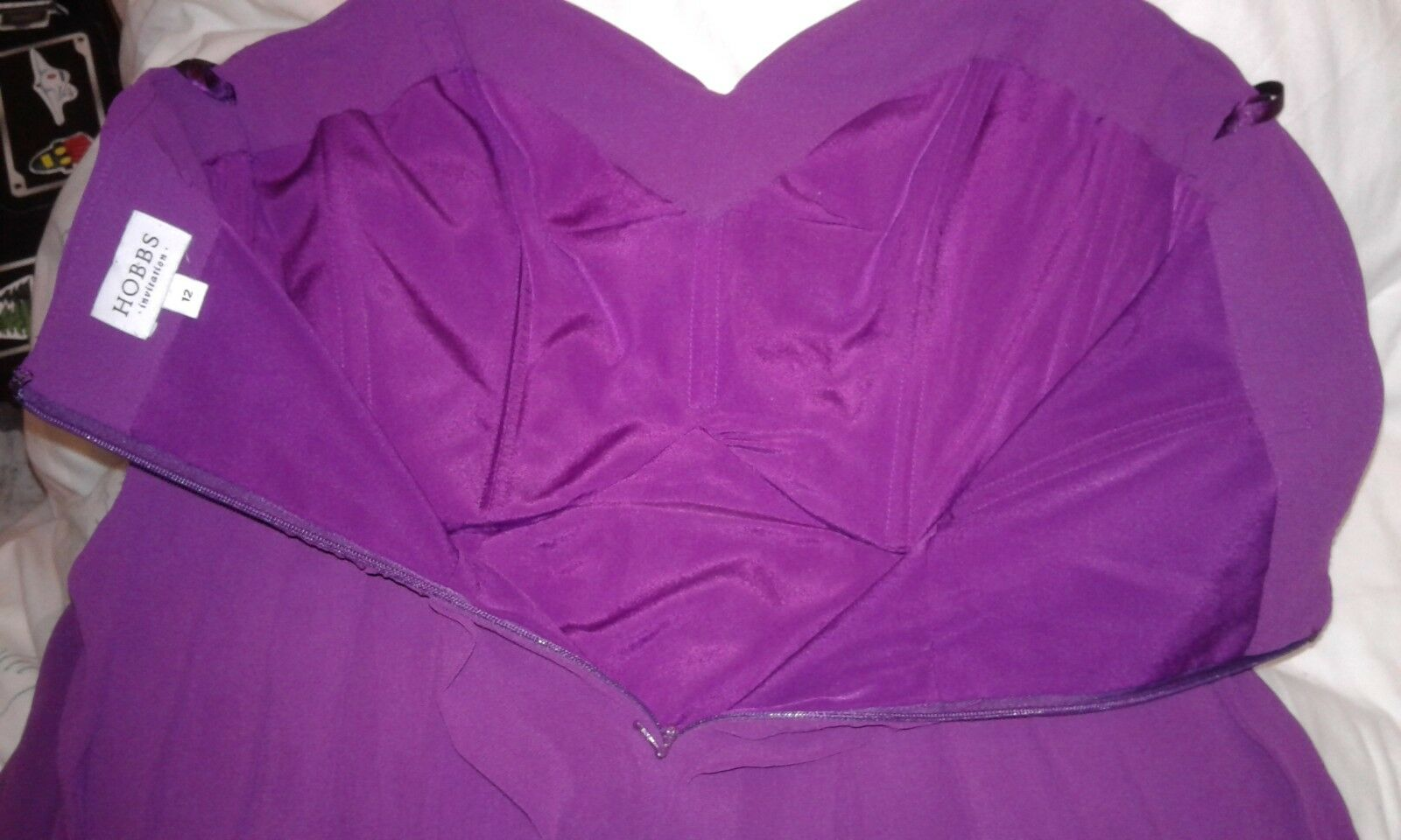 HOBBS ladies dress,lined with bra attachments,new no tag,size 12,paid      8c0b95