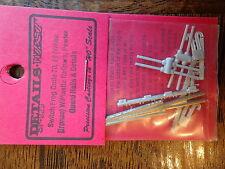 Details West HO #929 Code 70 Switch Frog Set w/Plastic Railbars & Pewter Guard
