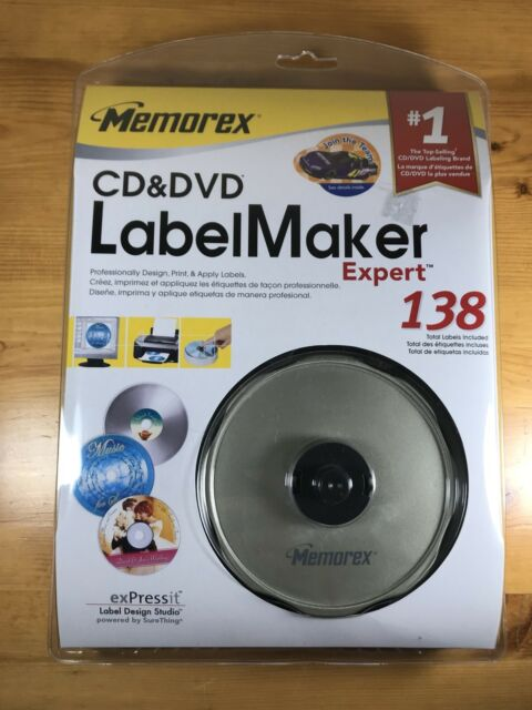 Memorex Cd Dvd Label Maker Expert 138 New In Box Labels Factory Sealed For Sale Online